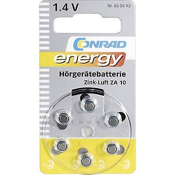 Button cell ZA10 Zinc air Conrad energy 90 mAh