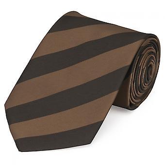 Tie cravate cravate 8cm brun rayé Fabio Farini