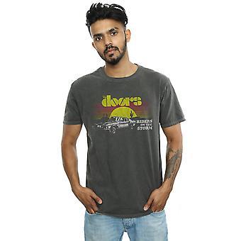 Dører menn ri på Storm soloppgang vasket t-skjorte