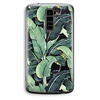 LG K10 (2016) Transparent Case (Soft) - Banana leaves