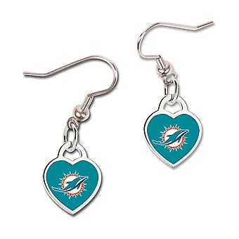 Wincraft ladies 3D heart earrings - NFL Miami Dolphins