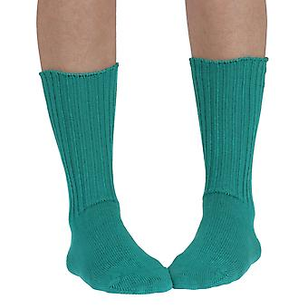 Fremont women's elastic free (soft topped) cotton crew socks in jewel
