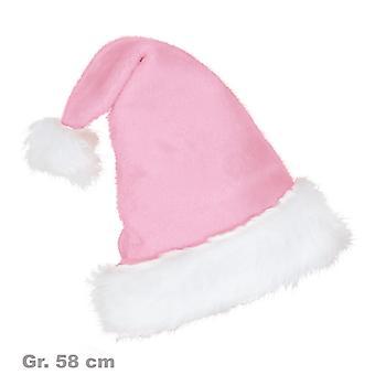 Nikolausmütze Rosa Plüschmütze Weihnachten Xmas