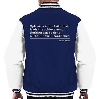 Optimism Faith That Leads The Achievement Men's Varsity Jacket