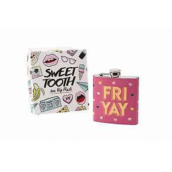 Sweet Tooth Fri Yay Hip Flask