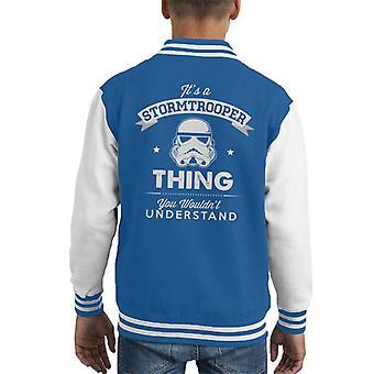Opprinnelige Stormtrooper dens en Trooper ting barneklubb Varsity jakke