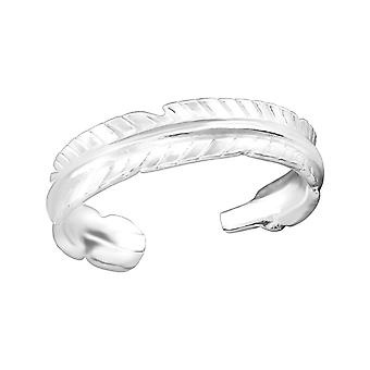 Feather - 925 Sterling Silver Toe Rings - W38316x