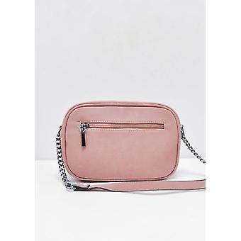 Faux Fur Front Pocket Cross Body Bag Pink