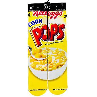 OddSox Mens Crew Knit Socks ~ Corn Pops
