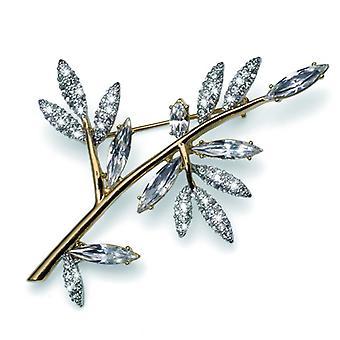 Oliver Weber Brooch Tree Gold Crystal