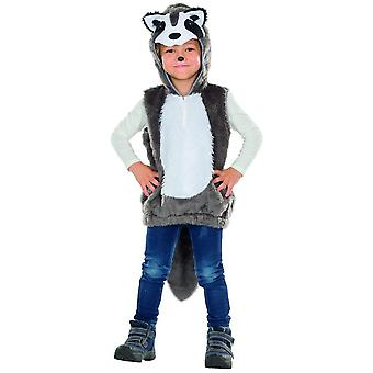Raccoon kids costume unisex Carnival Carnival racoon animal costume