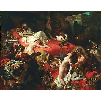 The Death of Sardanapalus, Eugene Delacroix, 50x40cm