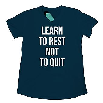 Learn To Rest, Not To Quit Womens Tridri Activewear Top