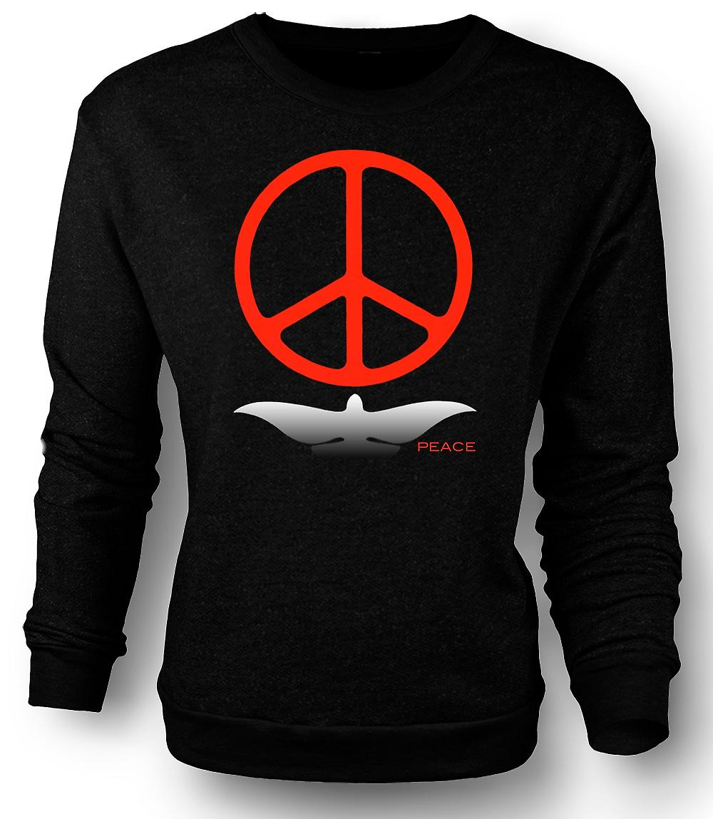 Mens Sweatshirt Greenpeace amour colombe CND