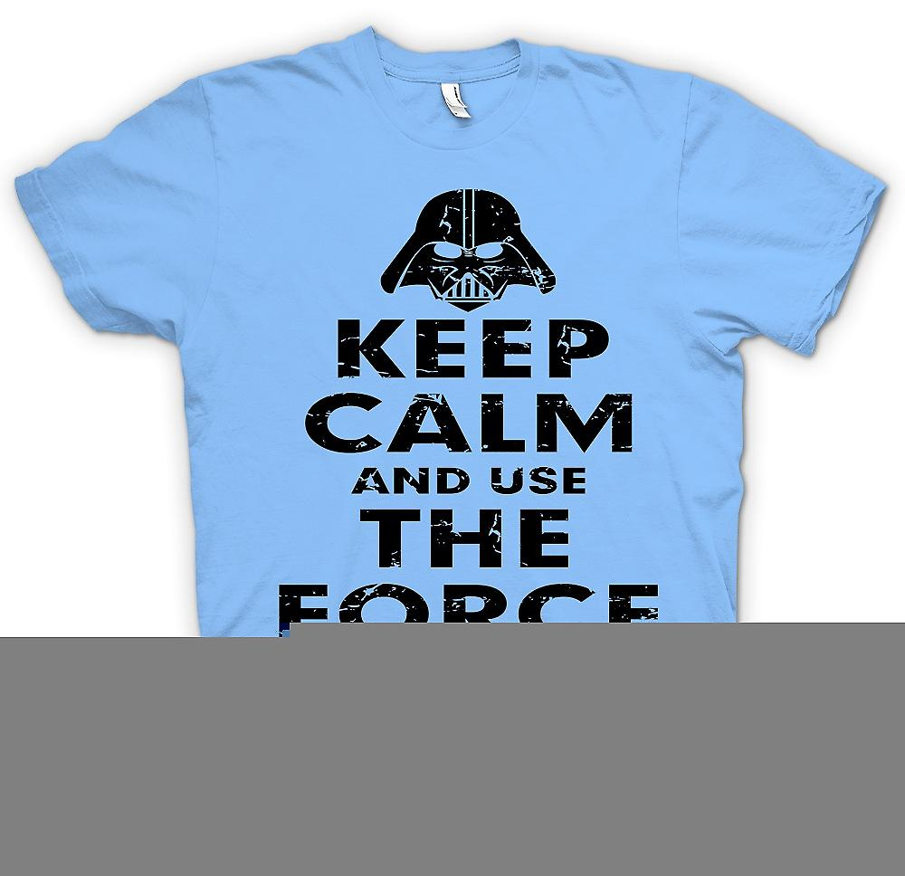 Mens T-shirt - Keep Calm And Use The Force - Star Wars Inspired