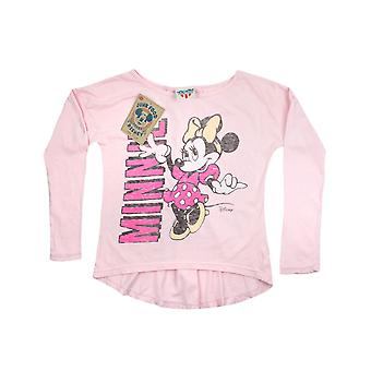 Malbouffe Minnie Mouse filles manches longues Top rose
