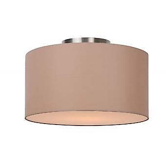 Lucide Coral Modern Round Cotton Taupe Flush Ceiling Light