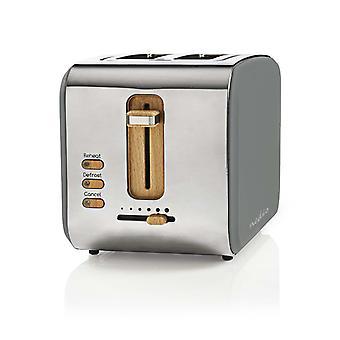 Nedis KABT510EGY トースター 2 ワイド スロット ソフト タッチ グレー