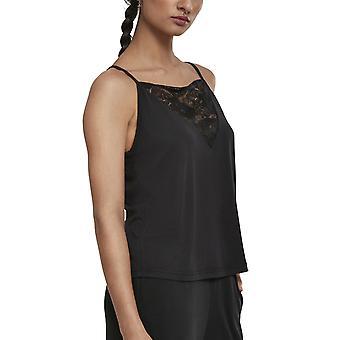 Urban classics ladies - laces triangle top black