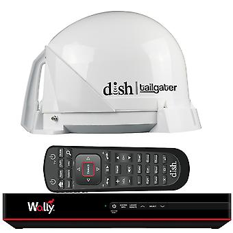 Antenne TV Satellite DISH® Tailgater roi Bundle w/plat® Wally® HD récepteur & câbles