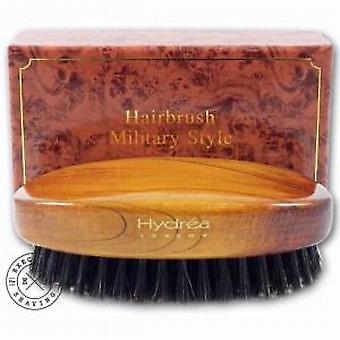 Hydrea of London Mens Wooden Military Hairbrush