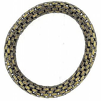 The Olivia Collection Goldtone Maximum Metal 8mm Elasticated Stretch Bracelet