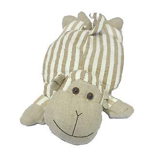 Childrens Stripey Heatable Cherry Pit Pillow: Monkey