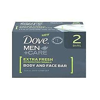 Dove men+care body & face bar, extra fresh, 2 ea