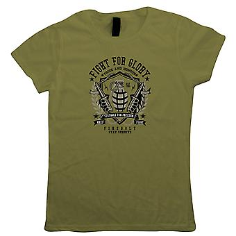 Grenade Womens Military T-Shirt | Army Medic War Combat Warfare Soldier Forces Armed | Ideal Top Father Mother Day Wife Husband Mum Dad | Military Gift Her Mum