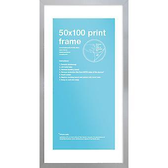 Eton Silberrahmen 50 x 100cm Poster / Frame drucken