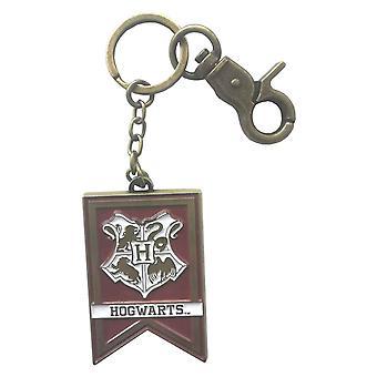 Harry Potter keyring nøglering Hogwarts skole Crest banner nye officielle metal