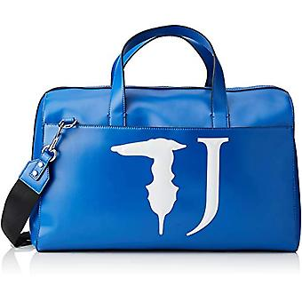 Trussardi Jeans T-Easy Travel 46 Monocolor Blue Women's Tote Bag (Bluette) 46x29x22cm (W x H x L)