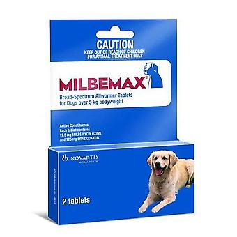 Milbemax Wormer Dogs 5-25kg - 2 Tablets