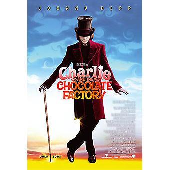 Charlie ja suklaa tehdas (yksipuolinen Advance) alkuperäinen elokuva juliste
