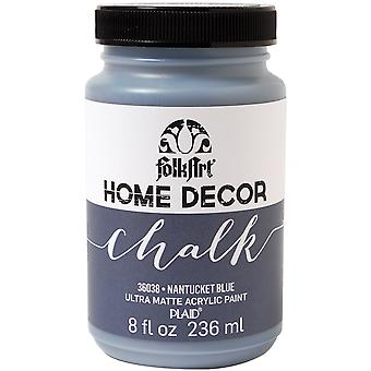 FolkArt Home Decor Chalk Finish Paint 8oz-Nantucket Blue