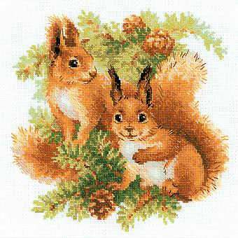 Squirrels Counted Cross Stitch Kit-9.75