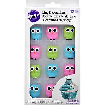 Royal Icing Decorations 12/Pkg-Owls W6022