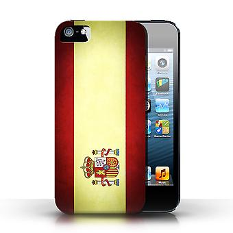 STUFF4 Case/Cover for Apple iPhone SE/Spain/Spanish/Flags