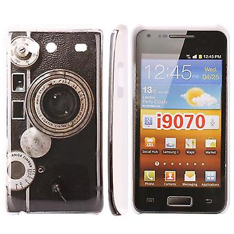 Plastic camera cover voor de Samsung Galaxy S Advance i9070