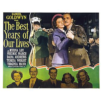 The Best Years Of Our Lives Myrna Loy Fredric March 1946 Movie Poster Masterprint