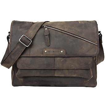 Greenburry cuero vol. 2 de revival vintage Messenger A4 1951-22