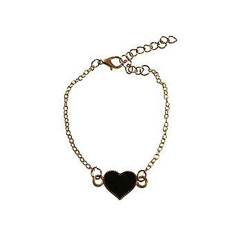 Minimalist statement bracelet with heart