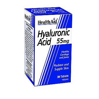 Health Aid Hyaluronic Acid 55mg, 30 Tablets