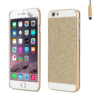Glitter design fall för Apple iPhone 6 6S - guld