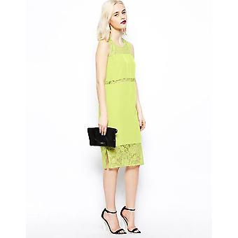 Asos Lace Panel Midi Dress