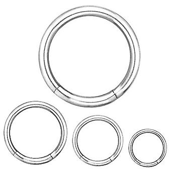 Segmentere Ring Piercing kroppen smykker, tykkelse 3.0 mm | Diameter 8-26 mm
