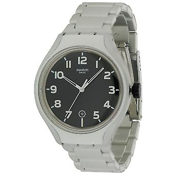 Swatch STRIPE BACK Aluminum Mens Watch YES4011AG