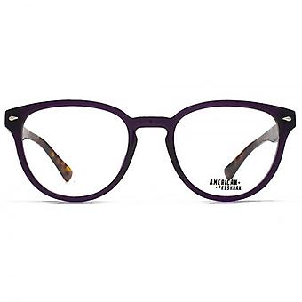 American Freshman Dakota Retro Round Glasses In Crystal Purple