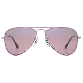 Ray-Ban Junior Aviator Sunglasses In Pink Mirror