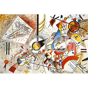 Wassily Kandinsky - bruisende Aquarelle 1923 Poster Print Giclee